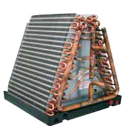"HYDRONIC WATER TO AIR ""A"" AIR COIL HEAT EXCHANGER FOR HOT AND COLD WATER AND GEOTHERMAL APPLICATIONS"