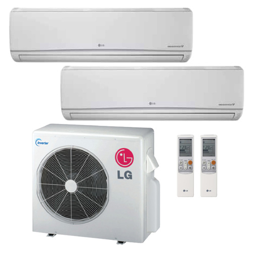 Lg 18k Btu Multi F Dual Zone Standard Ductless Mini Split