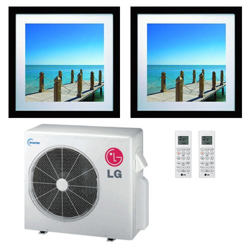 Lg 18k Btu Multi F Dual Zone Art Cool Gallery Ductless Mini Split Heat Pump System 9k 12k