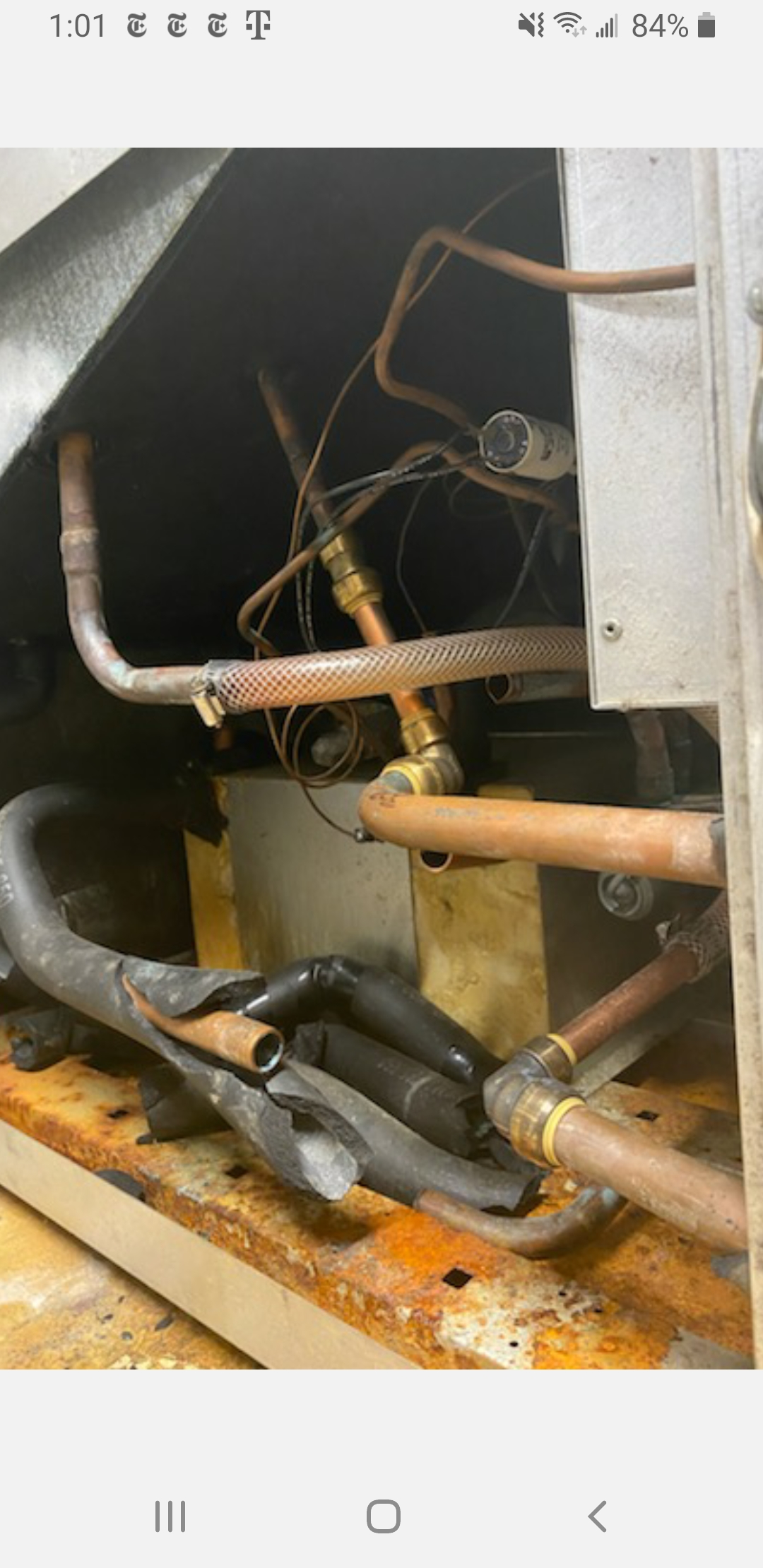 Customers thinking out of the box making emergency hydronic geothermal repairs.